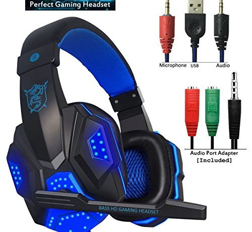 Gaming Headset for PS4 Xbox One, hyfanda Over Ear Gaming